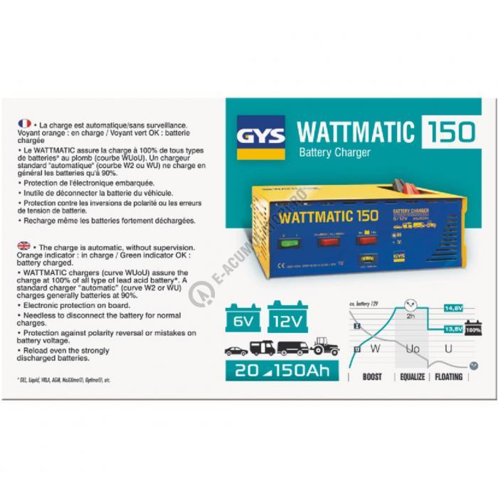 Incarcator si redresor PROFESIONAL automat 6/12V GYS Wattmatic 150-big