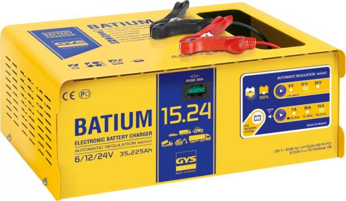Incarcator si redresor PROFESIONAL cu MICROPROCESOR 6/12/24V GYS BATIUM 15-24-big
