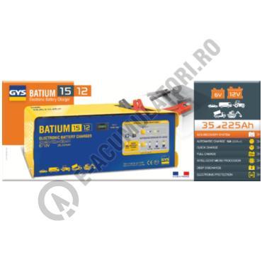 Incarcator si redresor PROFESIONAL cu MICROPROCESOR 6/12V GYS BATIUM 15-12-big