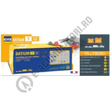 Incarcator si redresor PROFESIONAL cu MICROPROCESOR 6/12V GYS BATIUM 7-12-big