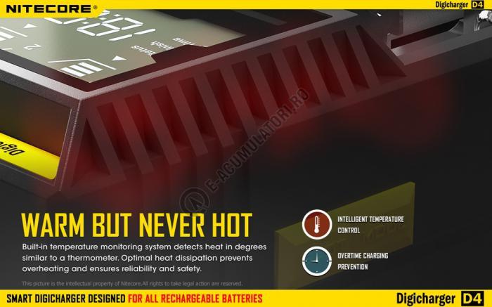 Incarcator Universal Inteligent NITECORE Digicharger D4 cu adaptor auto-big