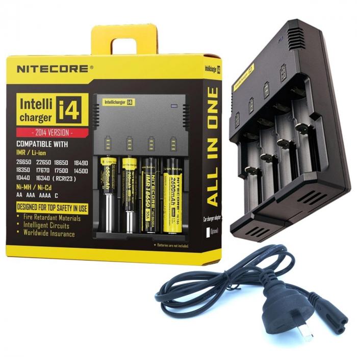 Incarcator Universal Inteligent NITECORE i4 ALL-IN-ONE, Li-Ion, Ni-Mh, Ni-Cd-big