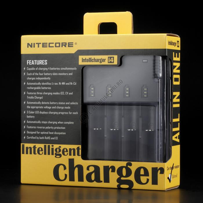 Incarcator Universal Inteligent NITECORE i4 ALL-IN-ONE, Li-Ion, Ni-Mh, Ni-Cd-big