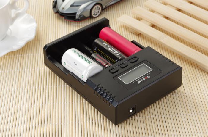 Incarcator Universal Powersave LCD Li-ion/NiMH/LiFePO4 pt 14500 18350 18650 26650 AA AAA C | H4-big