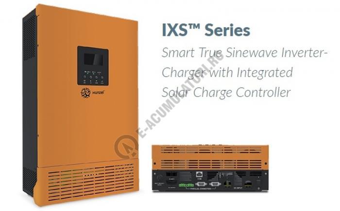 Invertor / Incarcator Xunzel Sinewave IXS-1000VA-800W-12V cu controller incarcare solara si cabluri IXS1000-12-big