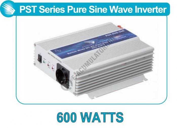 Invertor profesional SAMLEX PST-60S-24E 600W Pur Sinus DC/AC-big