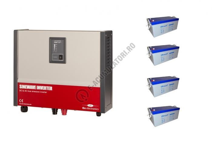 Invertor profesional TBS POWERSINE 3500-24 pur sinus DC/AC si patru acumulatori VRLA Ultracell cu GEL 12V, 250Ah UCG250-12-big