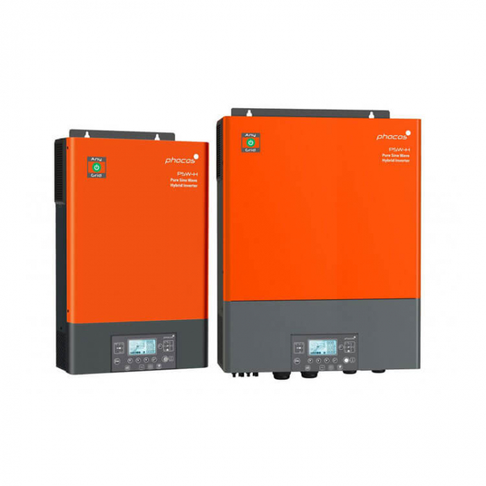 Invertor si controller Hybrid Phocos Pur Sinus cu controller MPPT 48V 5000VA 5000W LCD + bluetooth-big