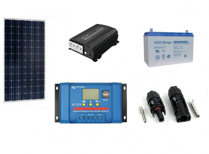 Kit Fotovoltaic Portabil 115W + invertor 600W-big