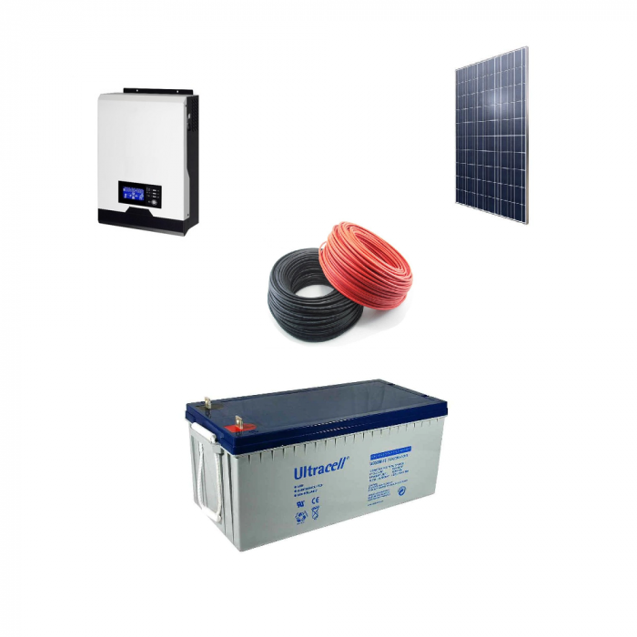 Kit Fotovoltaic Off-Grid 560W + Invertor Pur Sinus 1000W MPPT-big
