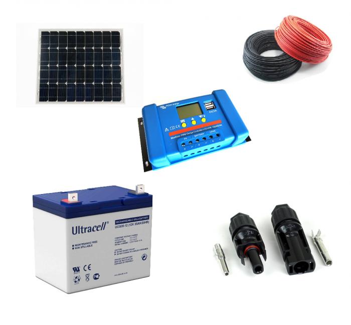 Kit cu panou fotovoltaic de 55W-big