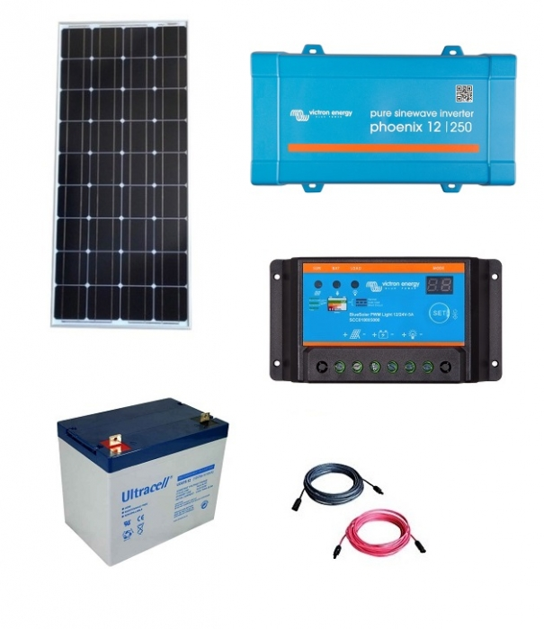 Kit Fotovoltaic Off-Grid 150W cu invertor de 250VA-big