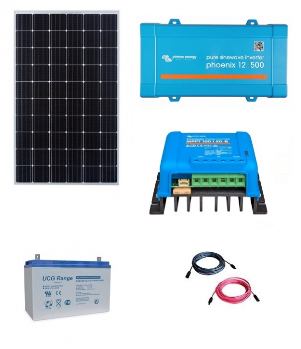 Kit Fotovoltaic Off-Grid 300W cu invertor de 500VA-big