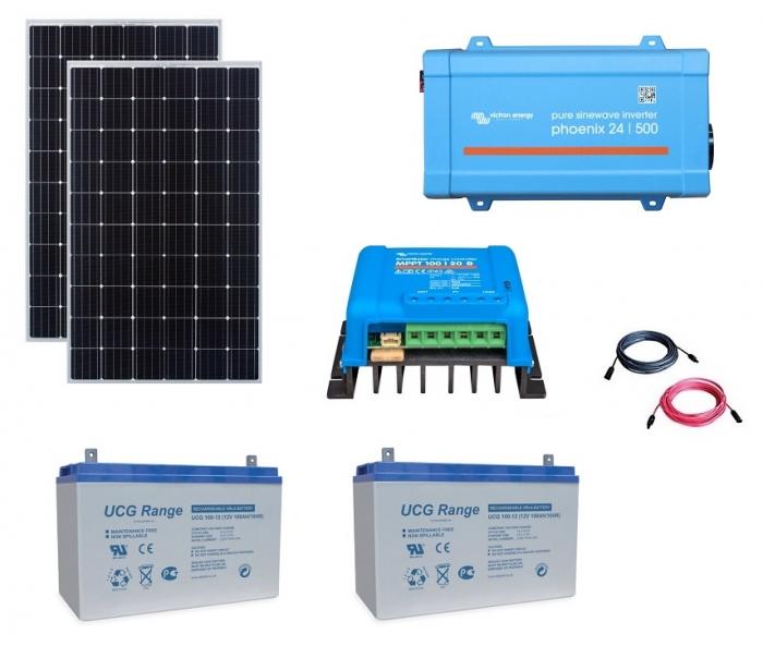 Kit Fotovoltaic Off-Grid 600W cu invertor de 500VA-big