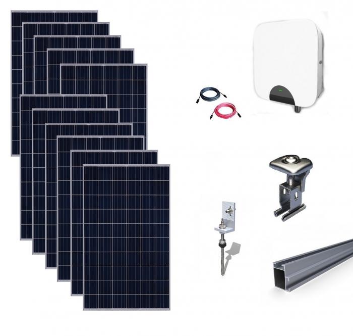 Kit Fotovoltaic On-Grid 3.19kWp - 11 Panouri Monocristaline 290W-big