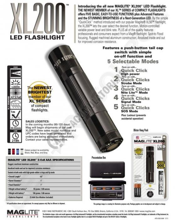 Lanterna cu LED Maglite XL200-big