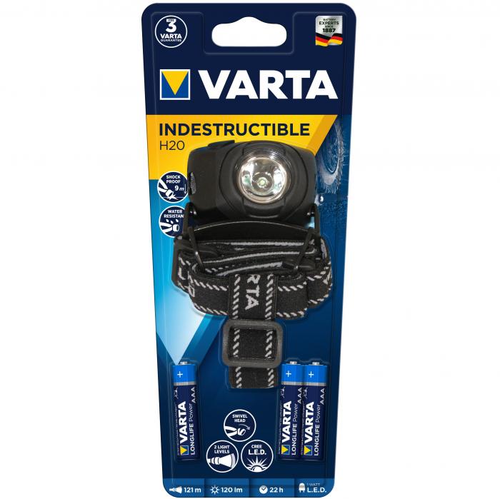 Lanterna Varta Indestructible de cap H20 LED 1 Watt 17731-big