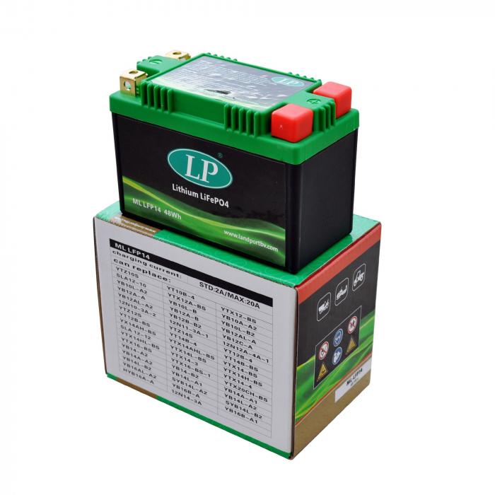 Acumulator Moto LandPort Li-Ion 12V 48 Wh 240A LFP14-big