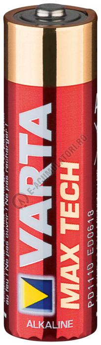 Baterii alcaline Varta Max Tech AA, MN1500, blister de 4 buc-big