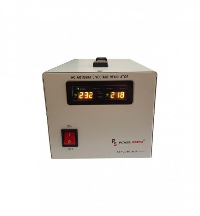 Stabilizator cu servomotor 1000VA/800W Power Sistem MSER-1000-big