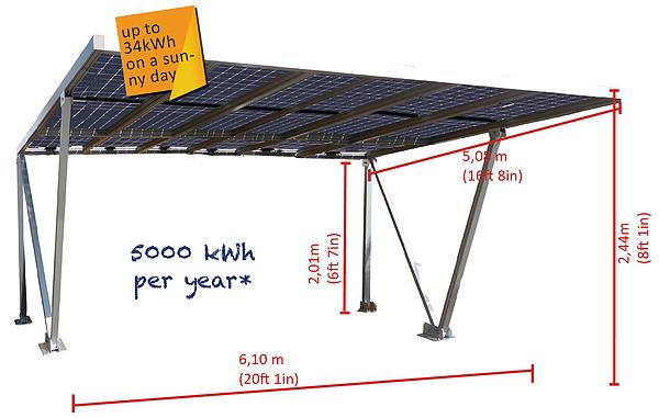 Parcare fotovoltaica Carport 3XL, 4.86 kWp-big