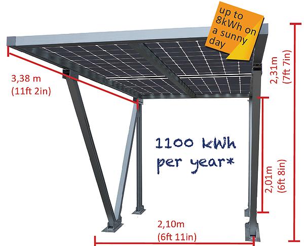 Parcare fotovoltaica Carport S, 1.08 kWp-big