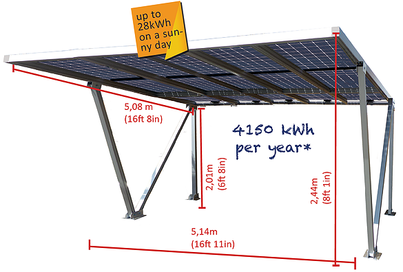 Parcare fotovoltaica Carport XXL, 4.05 kWp-big