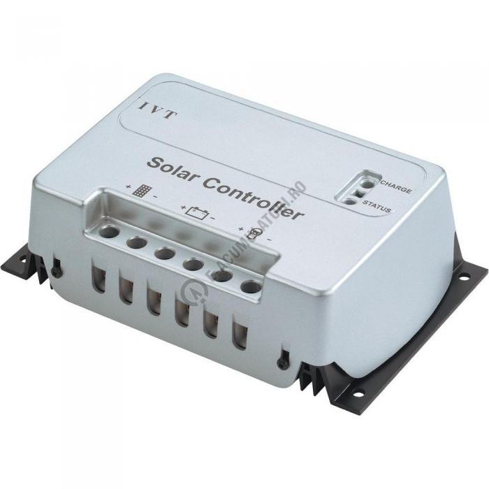 Regulator solar de încărcare cu microcontroler IVT SC 10 A, 12/24 V cod 200014-big