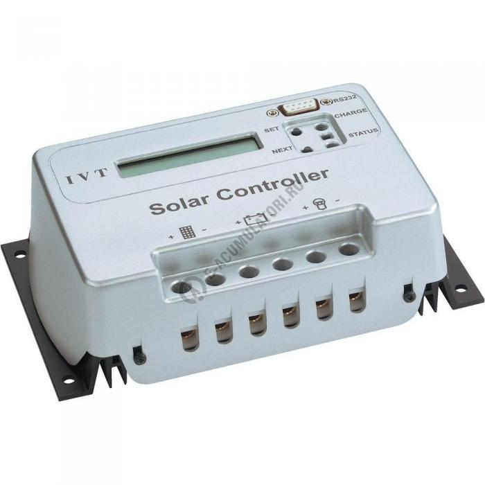 Regulator solar de încărcare LCD cu microcontroler IVT SCD 20 A, 12/24 V cod 200018-big