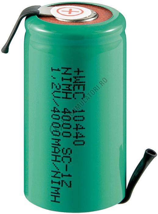 Acumulator Sub-C Goobay 4000 mAh 1.2V Ni-Mh cu lamele lipire cod 78320-big