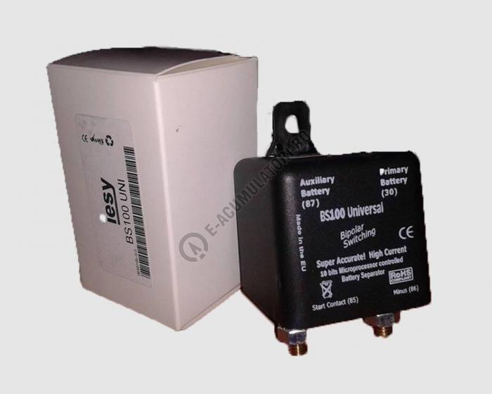 Separator automat de incarcare baterii 12/24V Iesy cod BS 100-big