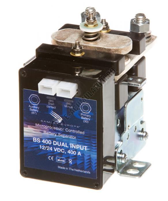 Separator automat de incarcare baterii 12/24V SAMLEX cod BS 400 DUAL-big