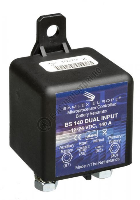 Separator automat de incarcare baterii 12/24V SAMLEX cod BS 140 DUAL-big