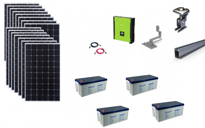 Sistem fotovoltaic hibrid Poweracu 5kwp prindere tigla-big