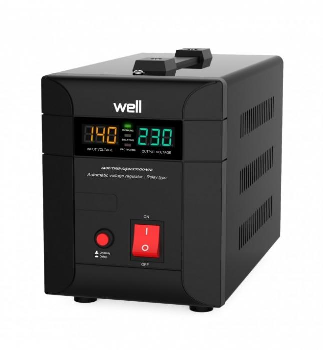 Stabilizator automat de tensiune cu Triac WELL 1000VA/700W AVR-TRC-AGILE1000-WL-big