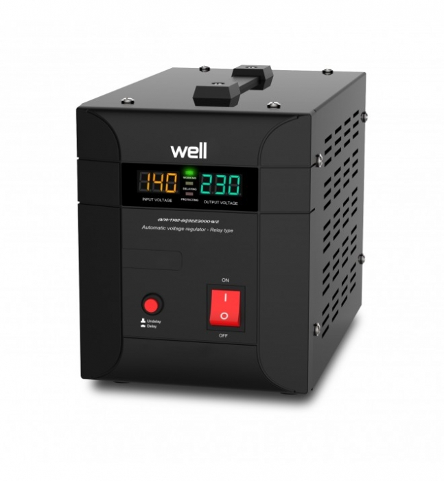 Stabilizator automat de tensiune cu Triac WELL 2000VA/1400W AVR-TRC-AGILE2000-WL-big