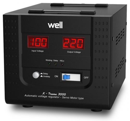 Stabilizator automat de tensiune cu servomotor Well 3000VA/1800W AVR-SRV-XTREME3000-WL-big