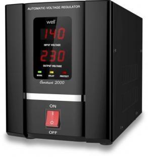 Stabilizator automat de tensiune cu servomotor Well 2000VA/1200W AVR-SRV-CONSTANT2000-WL-big