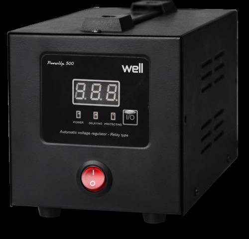 Stabilizator automat de tensiune cu releu Well 500VA/300W AVR-REL-POWERUP500-WL-big