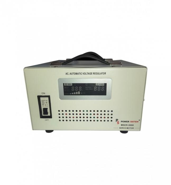 Stabilizator de tensiune cu servomotor Power Sistem 5000VA/4000W MSER-5000-big