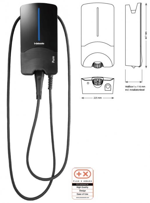 Statie Incarcare PURE II-11 Kw Cu Cablu Type 2 - 4,5 M-big