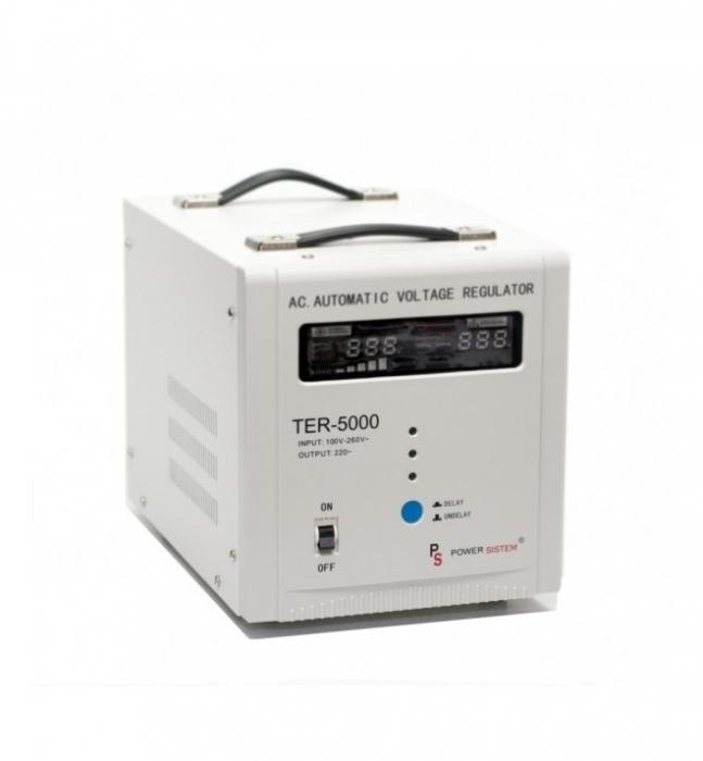 Stabilizator de tensiune 5000VA/3000W Power Sistem TER-5000-big