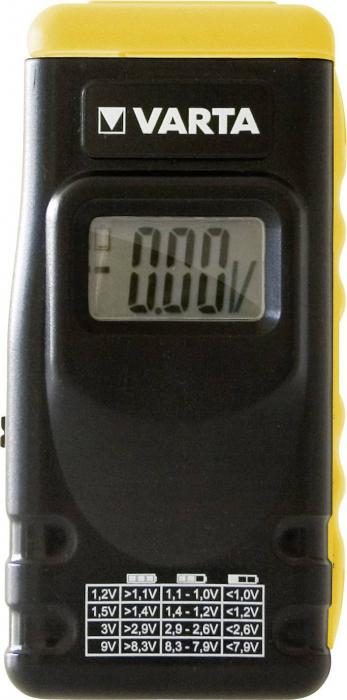 Tester baterii cu LCD Varta 1.2V 1.5V 3V 9V-big