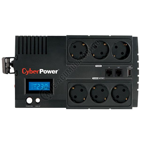 UPS Cyber Power BR850ELCD 850VA 510W AVR, LCD Display, 6 x Schuko outputs, USB-big