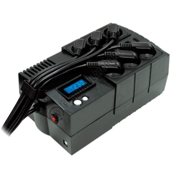 UPS Cyber Power BR850ELCD 850VA 510W AVR, LCD Display, 6 x Schuko outputs, USB-big