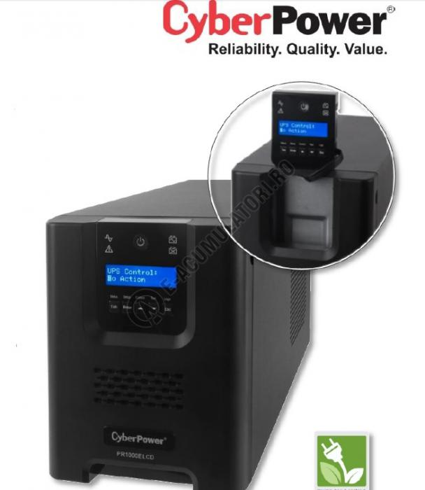 UPS Cyber Power PR1500ELCD Line-Interactive 1500VA 1350W AVR, LCD Display, 8 IEC OUTLETS, USB & Serial port-big