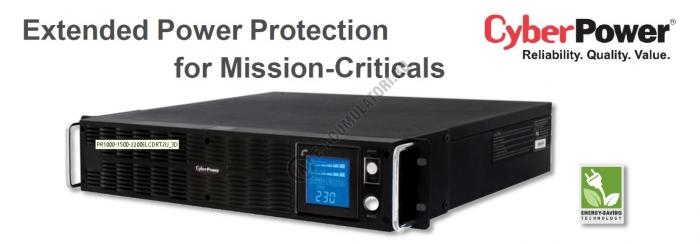 UPS Rackabil Cyber Power PR2200ELCDRTXL2U Line-Interactive 2200VA 1650W AVR, LCD Display, 10 IEC OUTLETS, USB & Serial port-big
