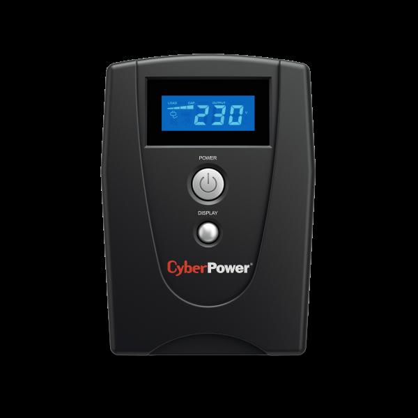 UPS Cyber Power VALUE600ELCD 600VA 360W AVR, LCD Display, 2 x Schuko outputs, USB & Serial port-big