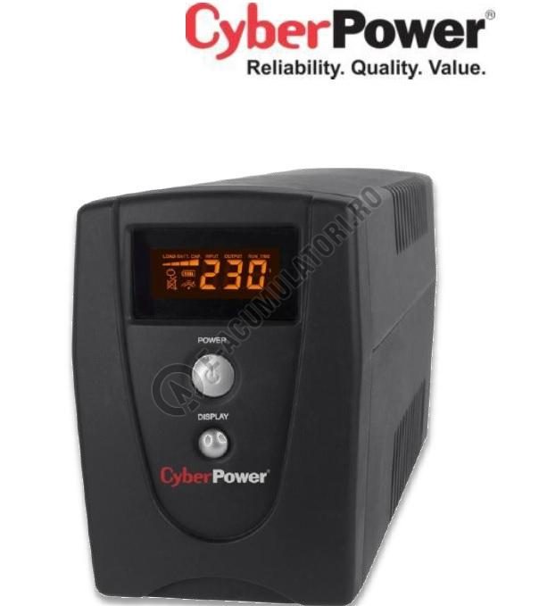 UPS Cyber Power VALUE800ELCD 800VA 480W AVR, LCD Display, 2 x Schuko outputs, USB & Serial port-big