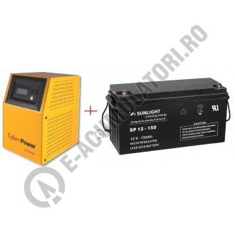 UPS pentru centrale termice Cyber Power CPS1000E 1000VA 700W cu Acumulator VRLA SUNLIGHT 12V 150 Ah cod SPB 12-150-big